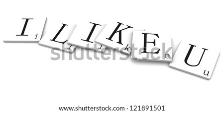 3d rendered illustration isolated on white. I Like You
