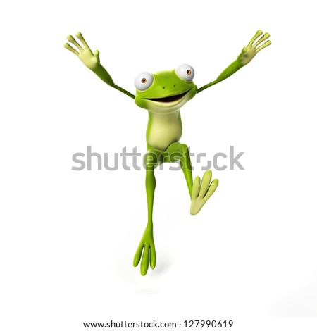 3d rendered illustration of a funny frog - stock photo