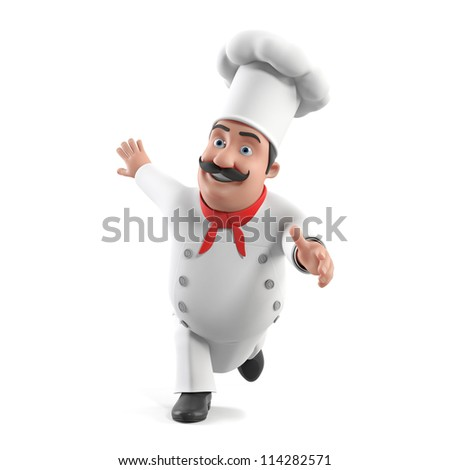 3d rendered illustration of a kitchen chef
