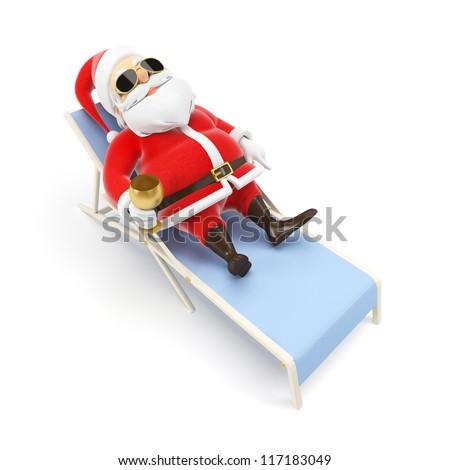 3d rendered illustration of a little santa - stock photo