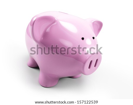 3d rendered illustration of a piggy bank - stock photo