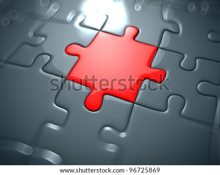 3d rendered illustration of a puzzle part - stock photo