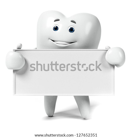 3d rendered illustration of a tooth character - stock photo
