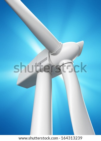 3d rendered illustration of a wind mill - stock photo