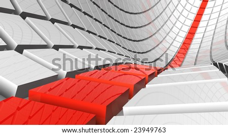 3D rendered illustration of abstract, futuristic background - stock photo
