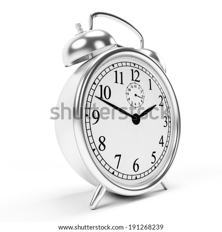3d rendered illustration of an alarm clock - stock photo
