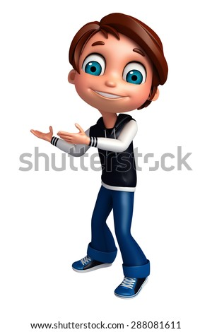 3d rendered illustration of boy