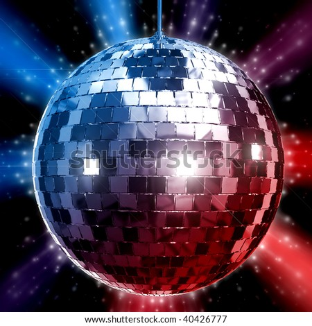 3D Rendered illustration of disco ball - stock photo