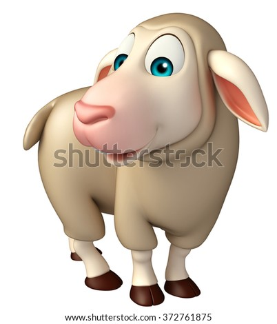 3d rendered illustration of funny Sheep cartoon character