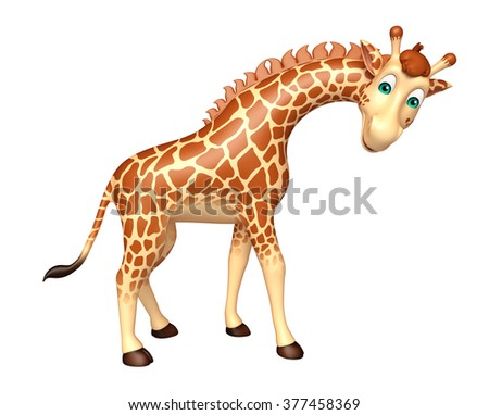 3d rendered illustration of Giraffe cartoon character