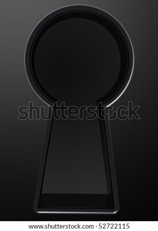 3D rendered illustration of keyhole - stock photo