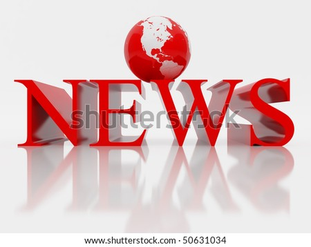 3D rendered illustration of news.
