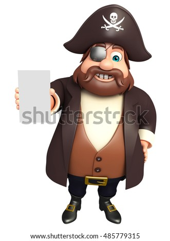3d rendered illustration of Pirate with Mobile pose