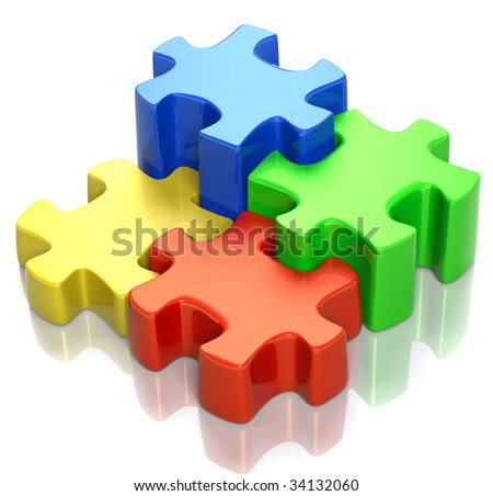 Puzzle Pieces Fitting Together Puzzle Pieces Fitting