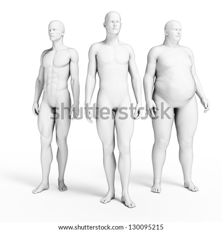 3d rendered illustration of some men - stock photo