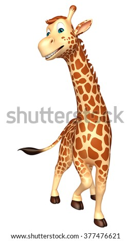 3d rendered illustration of walking Giraffe cartoon character