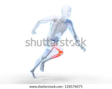 3d rendered illustration - sprinter - stock photo
