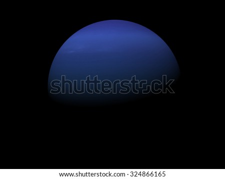 3d rendered Image of the Neptune on a black background, high resolution. Elements of this image furnished by NASA