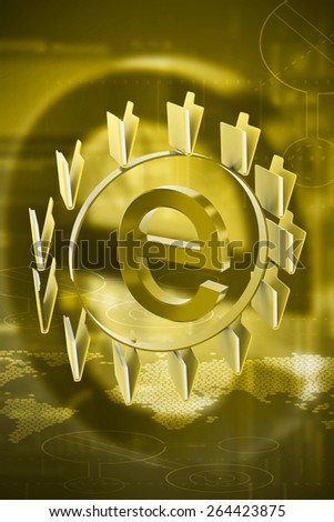 3d rendered Internet sign with folders  on color  background - stock photo