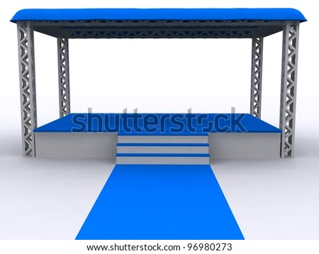 3D rendered isolated empty Stage - stock photo