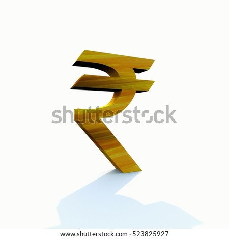 3 D Rendered Isolated New Indian Rupee Stock Illustration 523825927