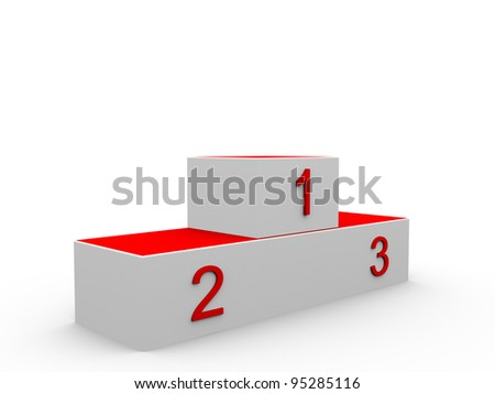 3D rendered isolated podium