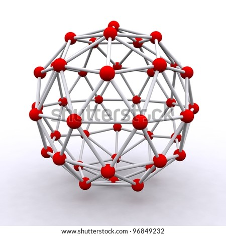 3D rendered molecular structure - stock photo