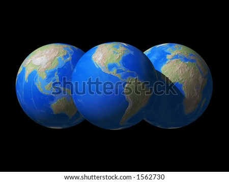 3D rendered of world globe