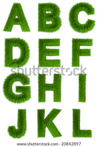 3d rendered organic alphabetical characters #1 - stock photo