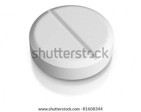 3D rendered pill on white background
