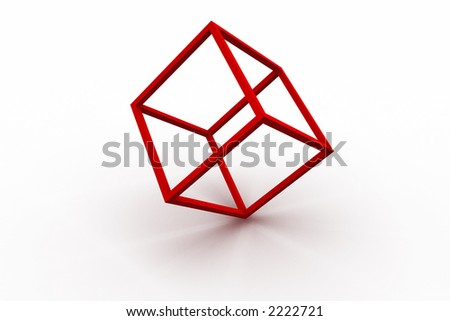 3D rendered red rim on the white background with soft shadows. - stock photo