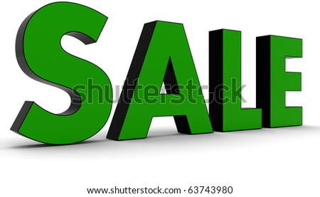 3D Rendered Sale word - stock photo