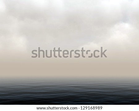 3d rendered seascape panorama - stock photo