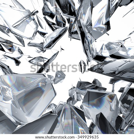 3d rendered sparkling diamond refraction background - stock photo
