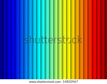 2D rendered spectral bands of the light. - stock photo