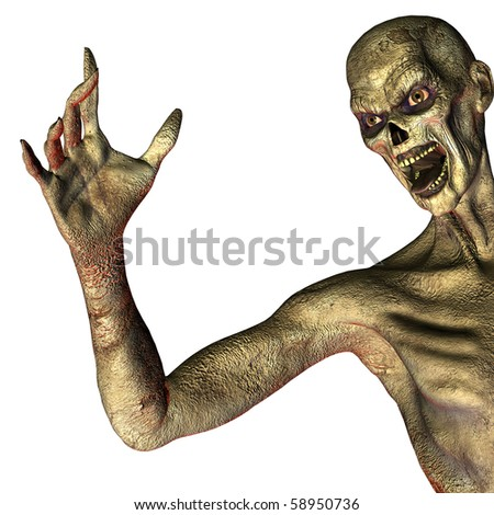 3d rendering a Zombies as illustration - stock photo