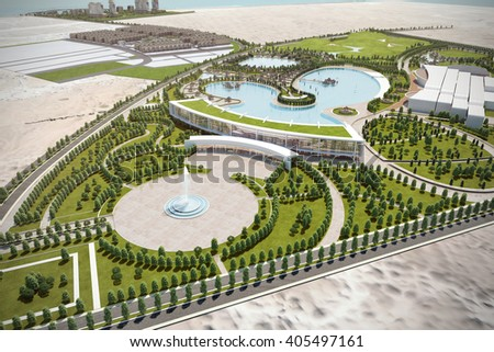 3d Rendering And Design Of Residential Touristic Complex