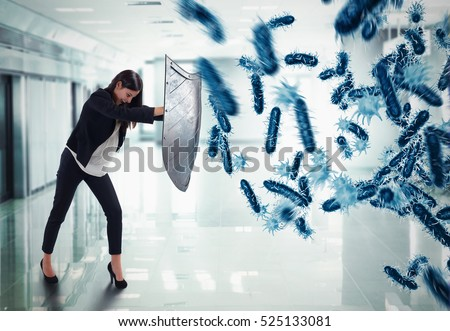 3D Rendering attack of bacteria