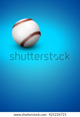 3D rendering baseball invitation poster or flyer abstract background with empty space - stock photo