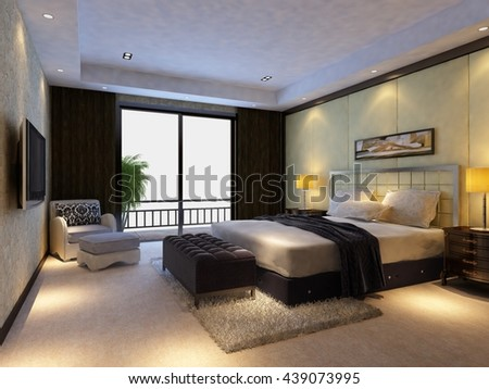 3d rendering bed room