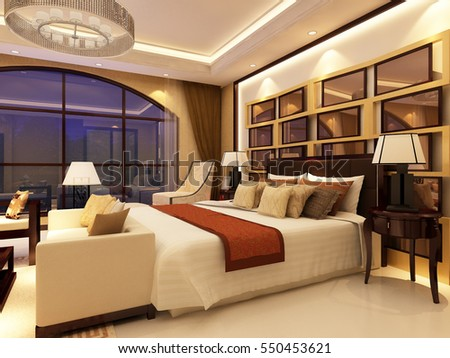 3d rendering bed room,so comfortable.
