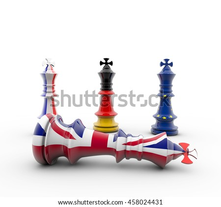 3D-Rendering Chess figure European and british figur