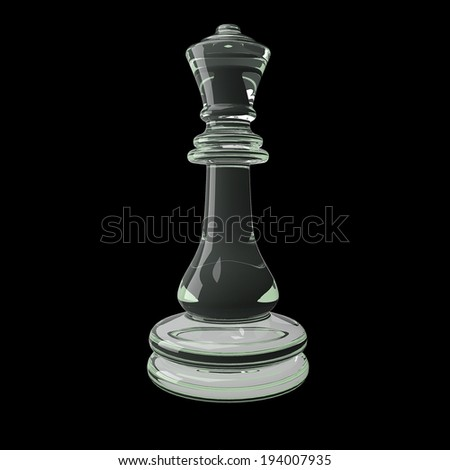 3d rendering Chess  isolated on dark background - stock photo