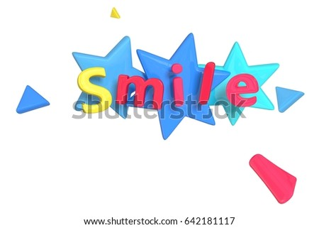 3 D Rendering Colorful Letter Form Word Stock Illustration 642181117