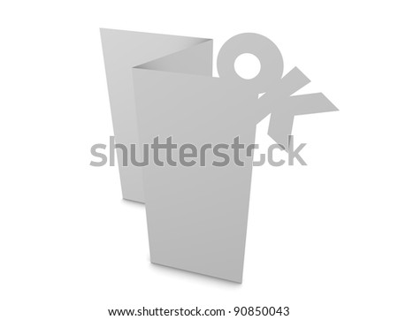 3d rendering, design element, Greeting card creative concept, isolated. - stock photo