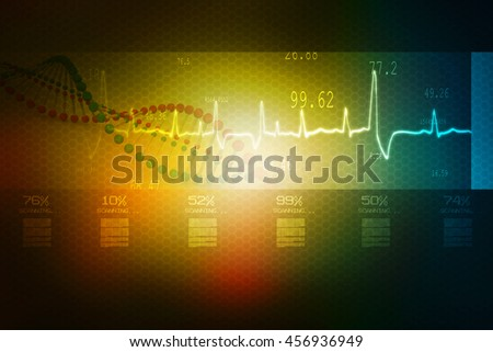 3d rendering Digital illustration DNA structure  - stock photo