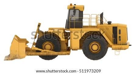3d rendering excavator isolated on white