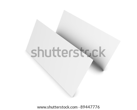3d rendering, 3 fold brochure, copy-space, isolated on white. - stock photo