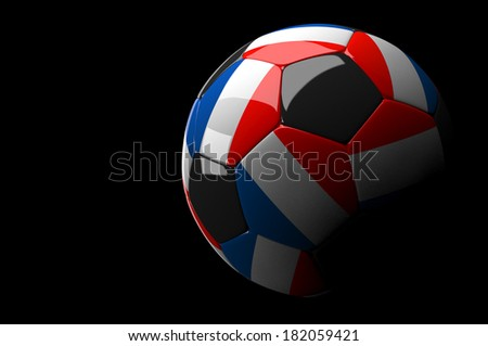 3d rendering France soccer ball on dark  background - stock photo