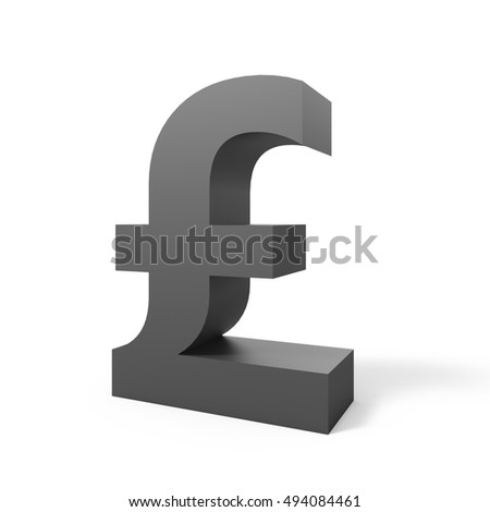 3D rendering grey pound sign isolated on white background